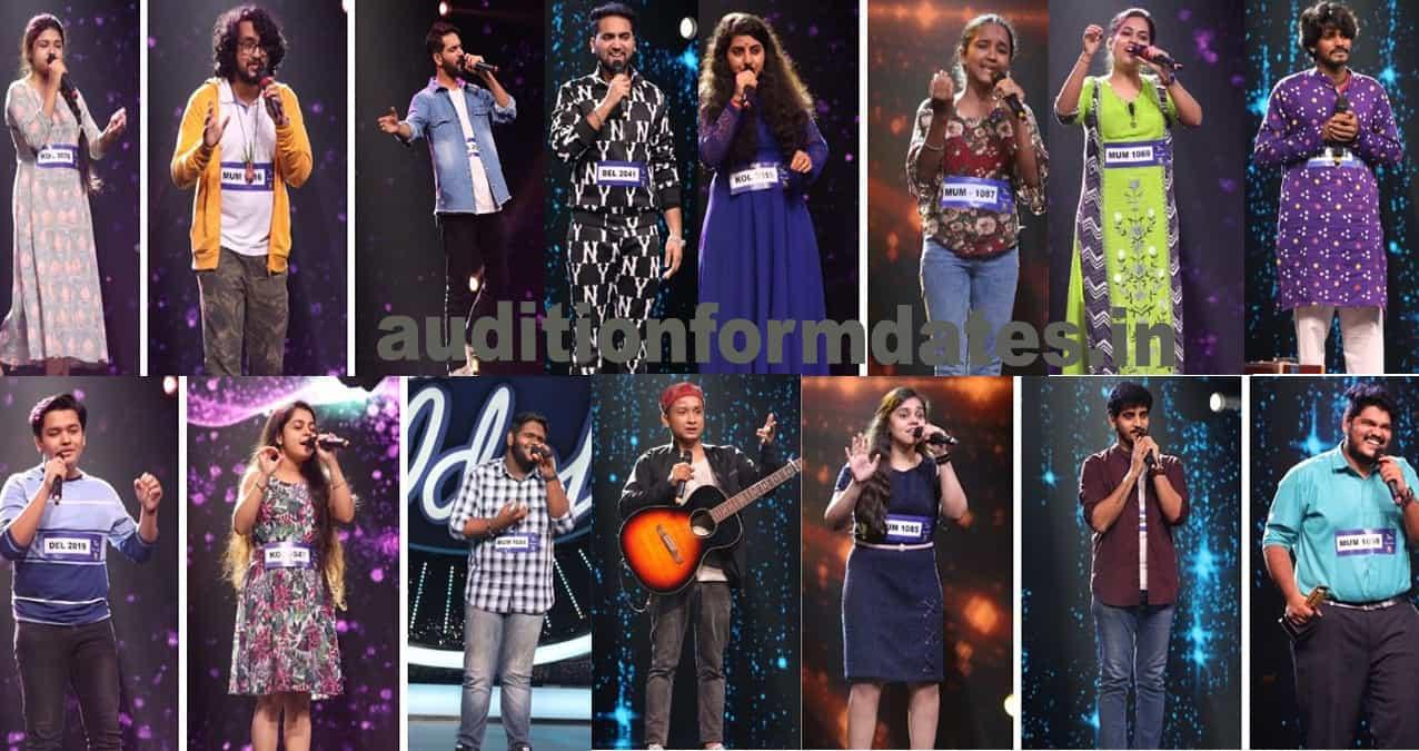 indian idol 12 contestants list