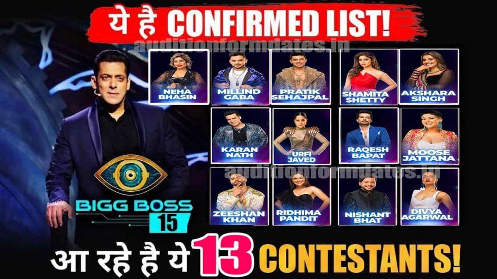 Bigg Boss OTT Contestants List