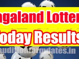 Nagaland State Lottery Results Today