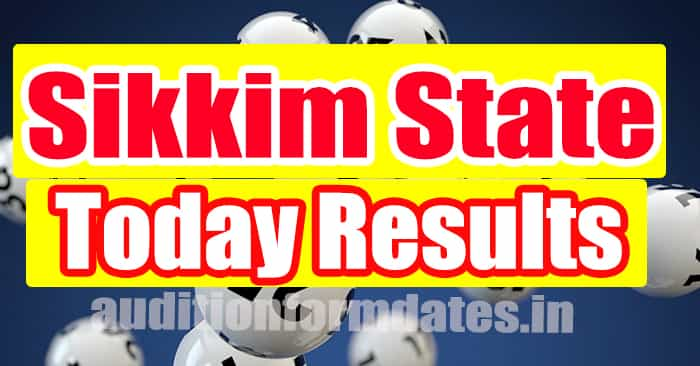 Sikkim State Lottery Result Live Today