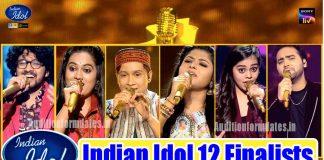 indian idol 12 finalists