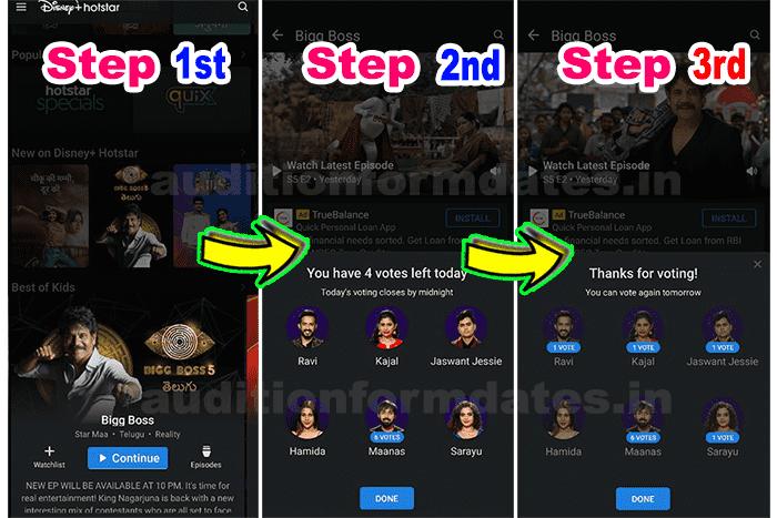 Hotstar Bigg Boss 5 Telugu voting online